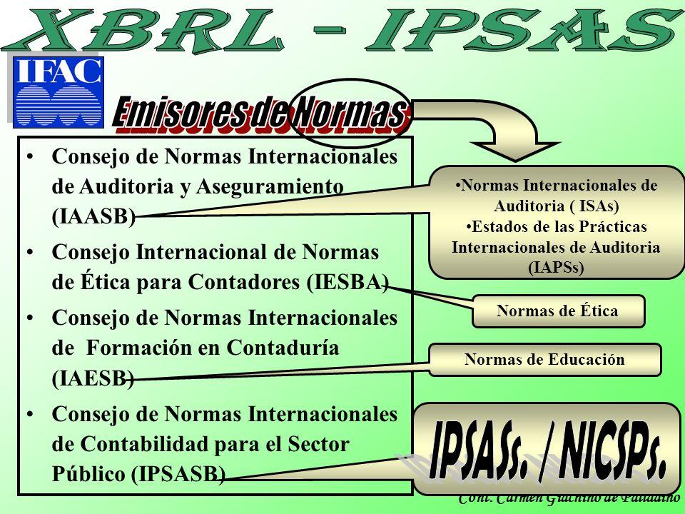 Cont. Carmen Giachino de Palladino Consejo de Normas Internacionales de Auditoria y Aseguramiento (IAASB) Consejo Internacional de Normas de Ética par