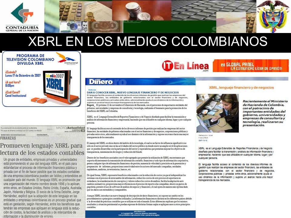 XBRL EN LOS MEDIOS COLOMBIANOS