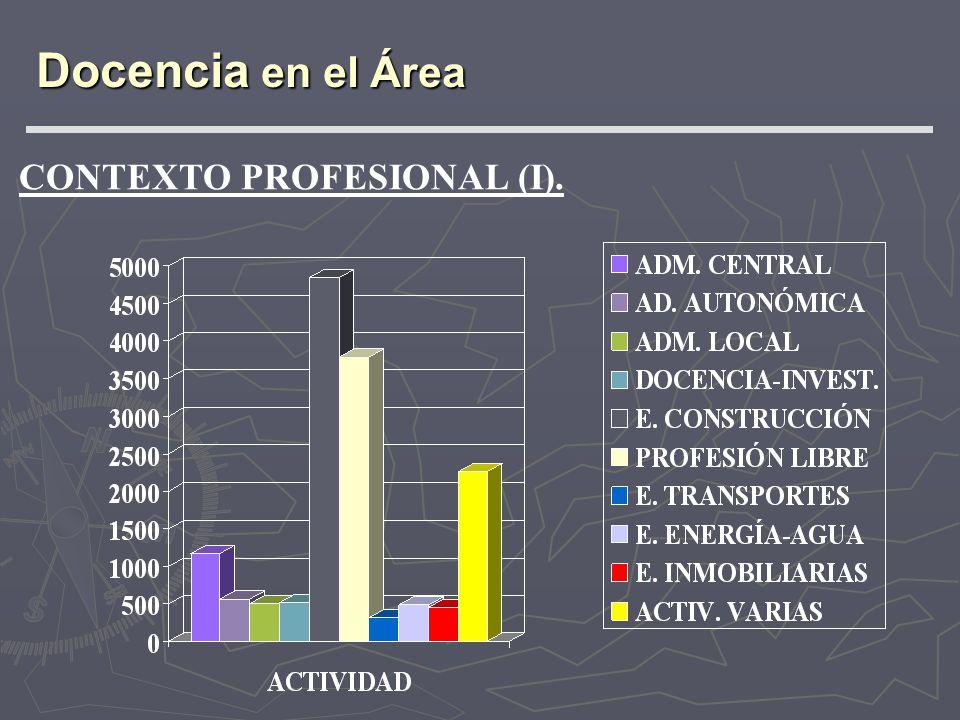 CONTEXTO PROFESIONAL (I). Docencia en el Área