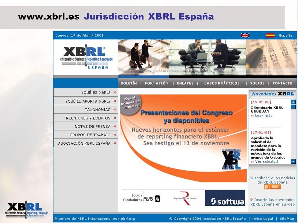 15 www.xbrl.es Jurisdicción XBRL España