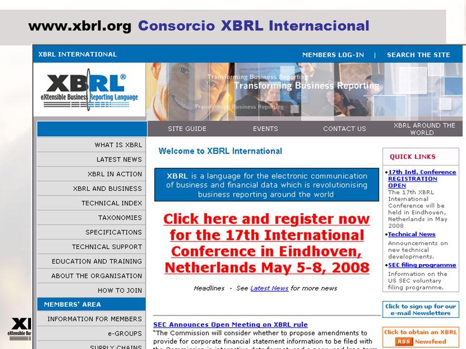 4 www.xbrl.org Consorcio XBRL Internacional
