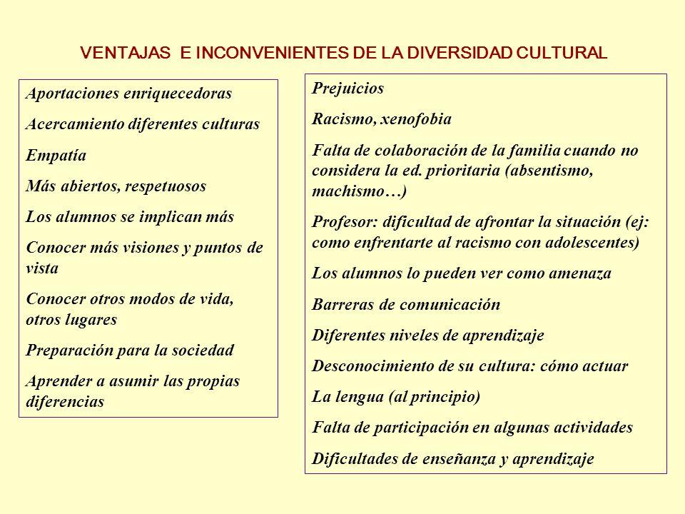 FINALIDAD DE LA EDUCACIÓN INTERCULTURAL: ENRIQUECIMIENTO MUTUO Una educación intercultural trata de aprovechar y potenciar las ventajas de la diversidad cultural y anticipar o gestionar los inconvenientes.