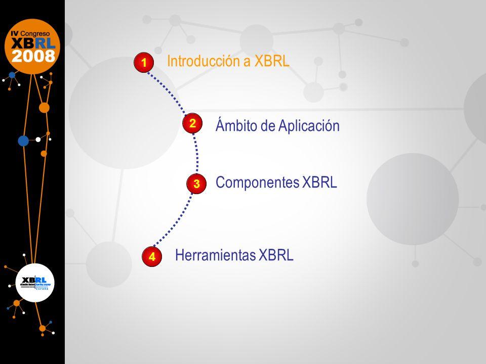 Introducción a XBRLEvolución de XBRLComponentes XBRLHerramientas XBRL Para entender el desarrollo de un proyecto XBRL es necesario conocer los siguientes conceptos: Taxonomía XBRL Instancia XBRL Informe XBRL Validador XBRL Visualizado r XBRL
