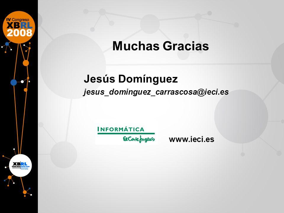 Muchas Gracias Jesús Domínguez jesus_dominguez_carrascosa@ieci.es www.ieci.es