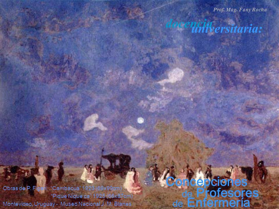 de Enfermería de Profesores Prof. Mag. Fany Rocha docencia universitaria: Concepciones Obras de P. Figari: Cambacuá 1923 (69x99cm) Pique Nique ca 1925
