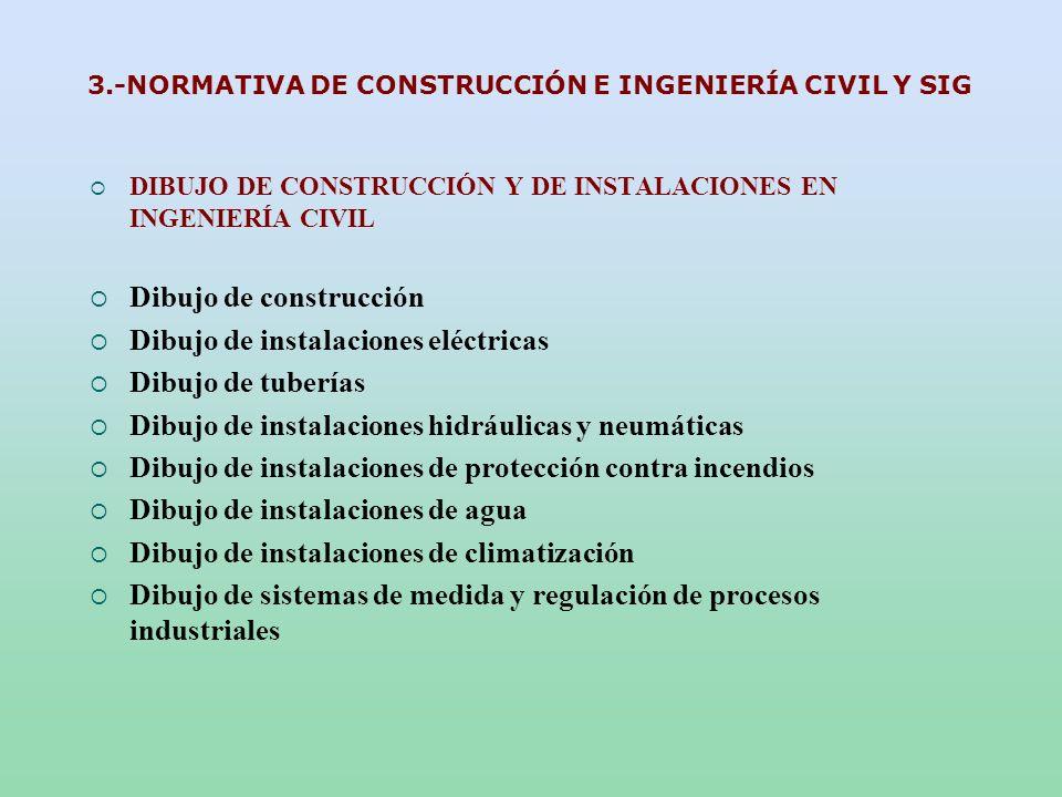 3.-NORMATIVA DE CONSTRUCCIÓN E INGENIERÍA CIVIL Y SIG DIBUJO DE CONSTRUCCIÓN Y DE INSTALACIONES EN INGENIERÍA CIVIL Dibujo de construcción Dibujo de i