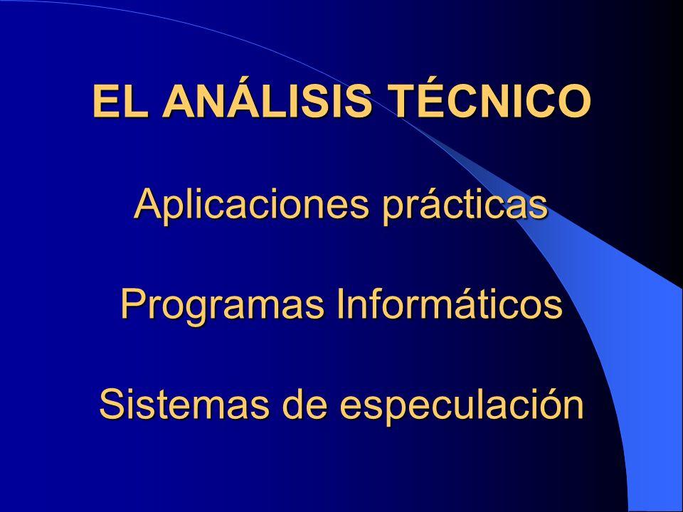 EL ANÁLISIS TÉCNICO Aplicaciones prácticas Programas Informáticos Sistemas de especulación