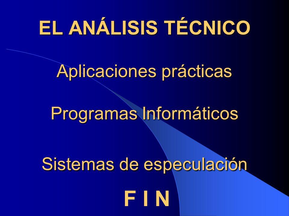 EL ANÁLISIS TÉCNICO Aplicaciones prácticas Programas Informáticos Sistemas de especulación F I N