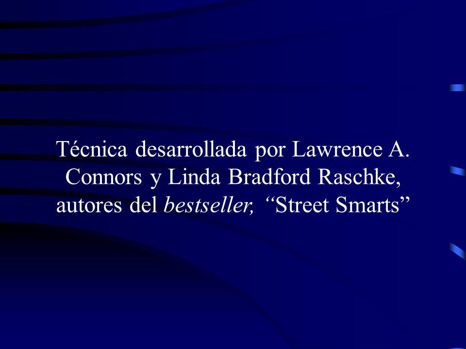 Técnica desarrollada por Lawrence A. Connors y Linda Bradford Raschke, autores del bestseller, Street Smarts