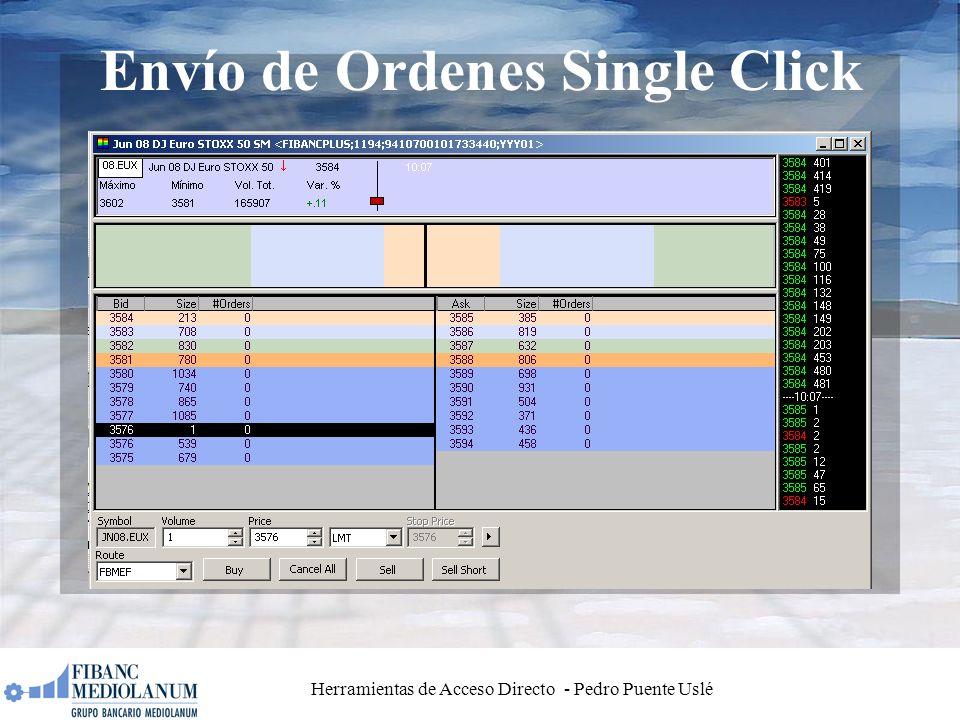 Herramientas de Acceso Directo - Pedro Puente Uslé Envío de Ordenes Single Click