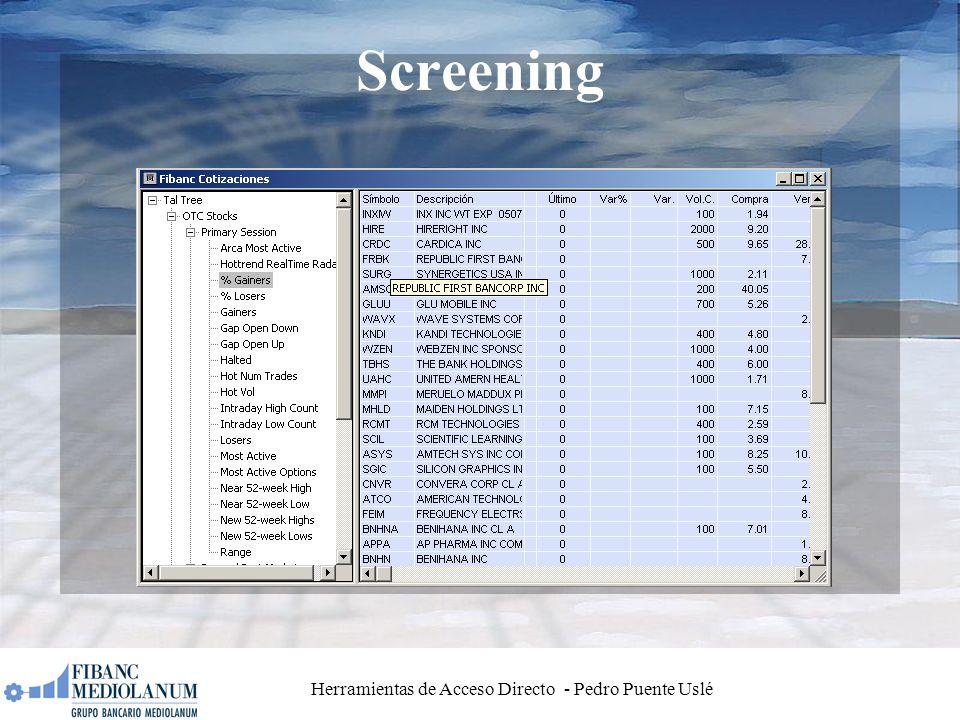 Herramientas de Acceso Directo - Pedro Puente Uslé Screening