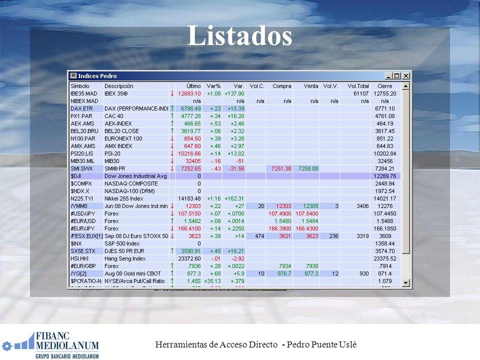 Herramientas de Acceso Directo - Pedro Puente Uslé Listados