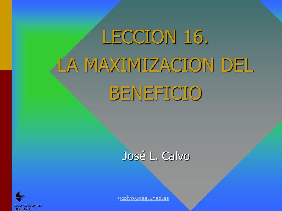 jcalvo@cee.uned.es CORTO PLAZO.Demanda del factor variable Máx.