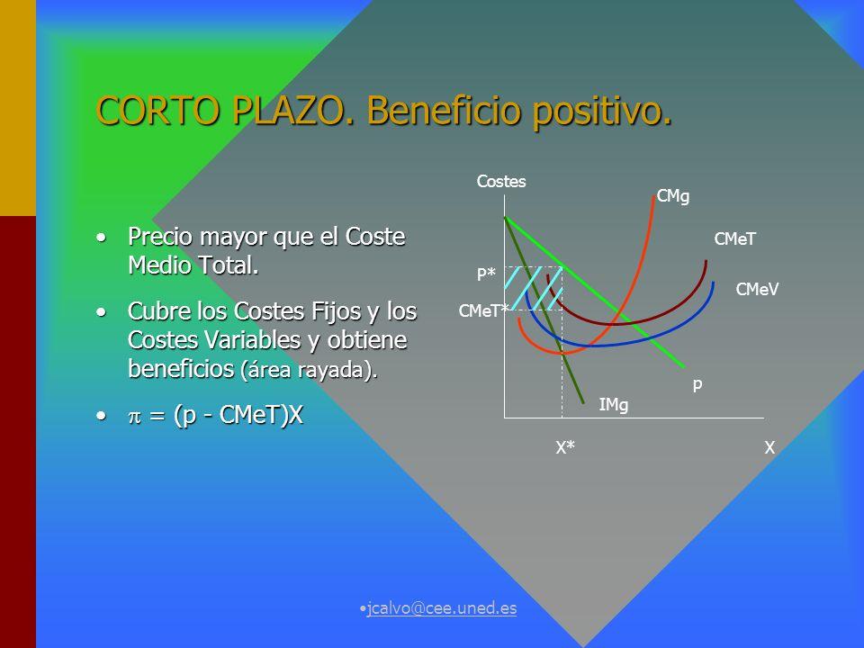 jcalvo@cee.uned.es CORTO PLAZO.Beneficio positivo.