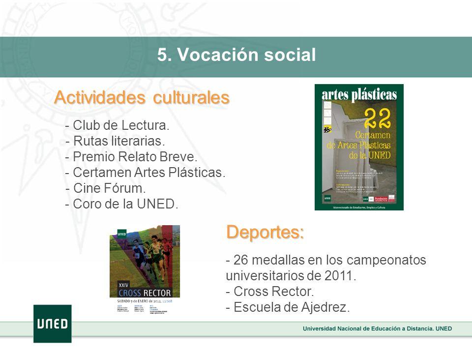 5. Vocación social - Club de Lectura. - Rutas literarias.
