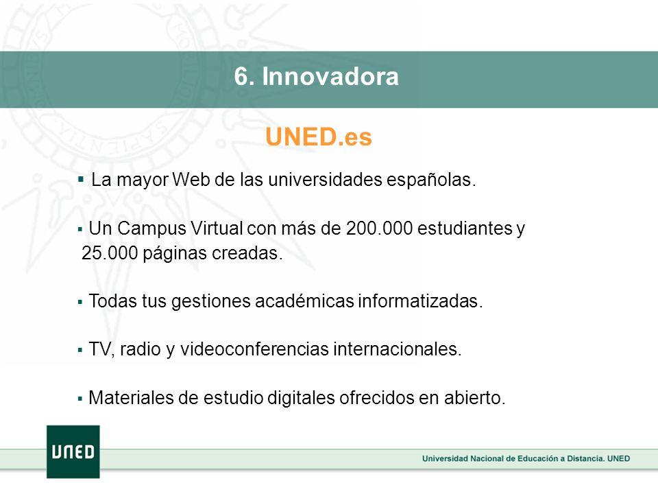 La mayor Web de las universidades españolas. Un Campus Virtual con más de 200.000 estudiantes y 25.000 páginas creadas. Todas tus gestiones académicas