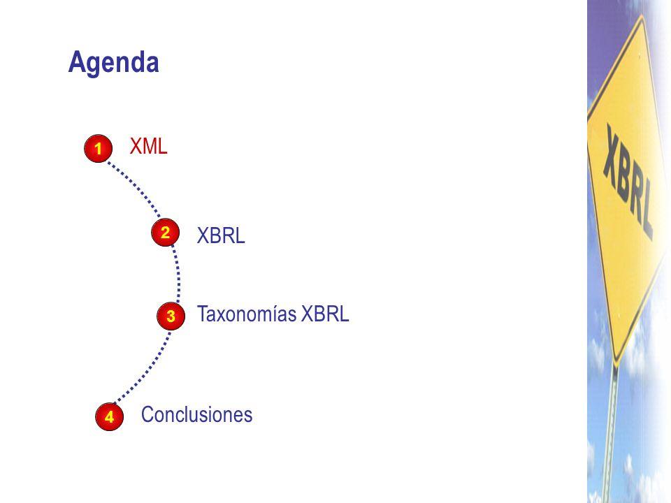 XBRL: eXtensible Business Reporting Language Es un lenguaje de marcas basado en XML Creado por XBRL.org Para el intercambio automático de información financiera entre aplicaciones de software en cualquier parte del mundo Se trata de un esfuerzo global para construir el lenguaje digital de los negocios A realizar por todos los participantes en la cadena de suministro de información financiera.