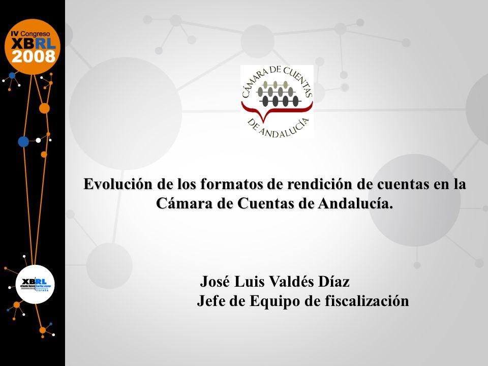 Evolución de los formatos de rendición de cuentas en la Cámara de Cuentas de Andalucía.