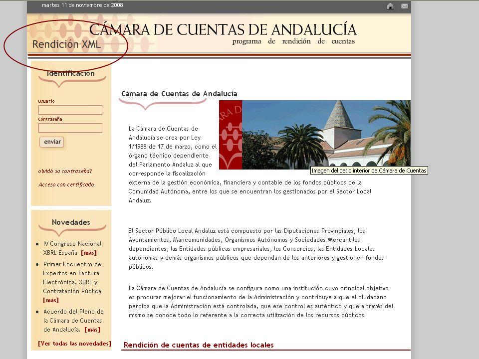 Tribunal de Cuentas Resolución 28 de julio 2006 ficheros XML PDF Y MD5 Nuevo formato de rendición de cuentas 2006 Resolución CCA de Rendición Telemáti