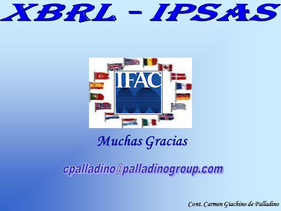 Cont. Carmen Giachino de Palladino Muchas Gracias