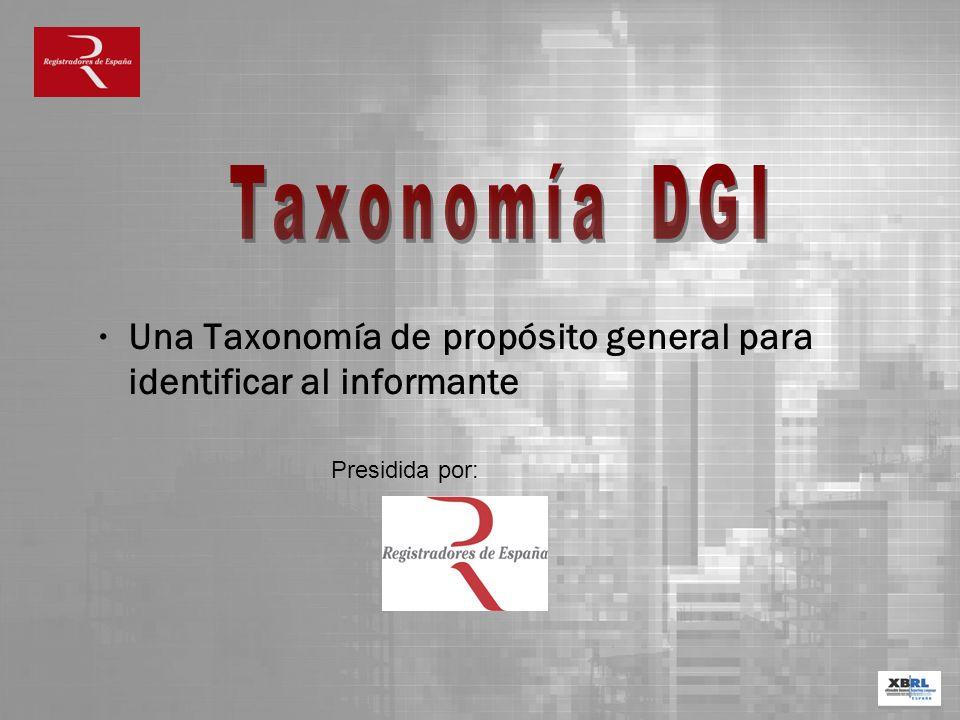 Una Taxonomía de propósito general para identificar al informante Presidida por: