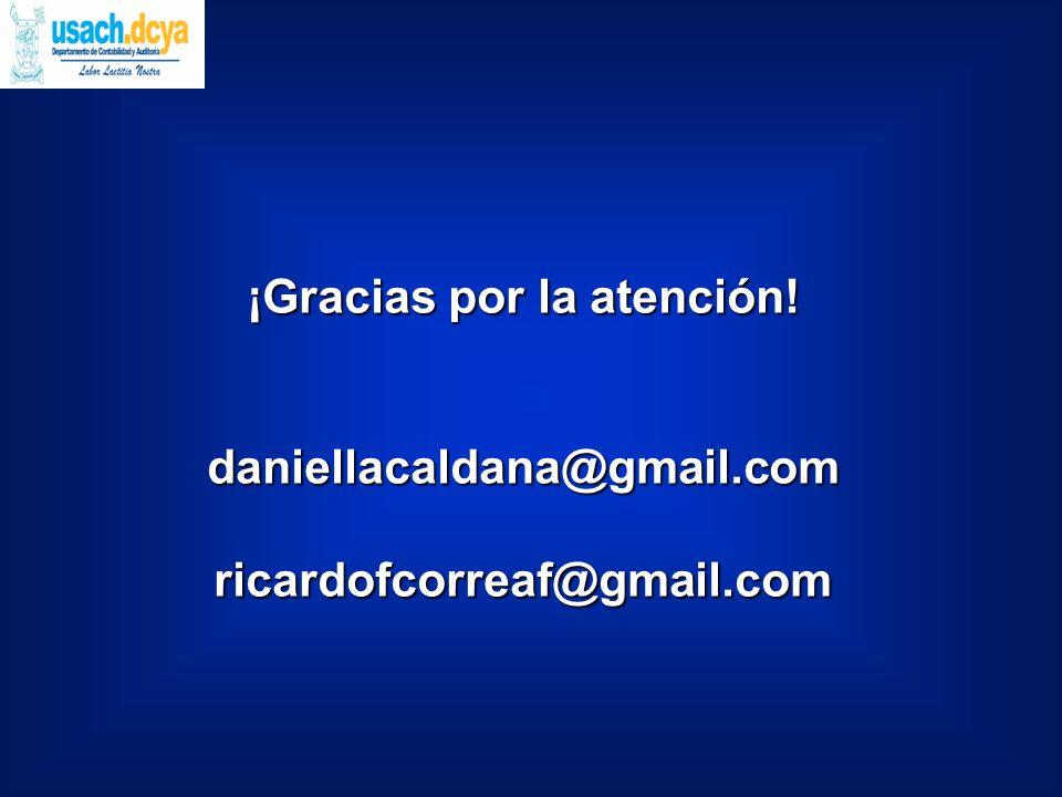 ¡Gracias por la atención! daniellacaldana@gmail.comricardofcorreaf@gmail.com