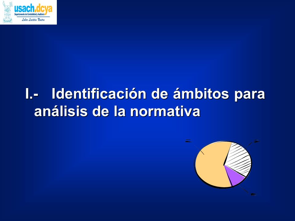 I.- Identificación de ámbitos para análisis de la normativa