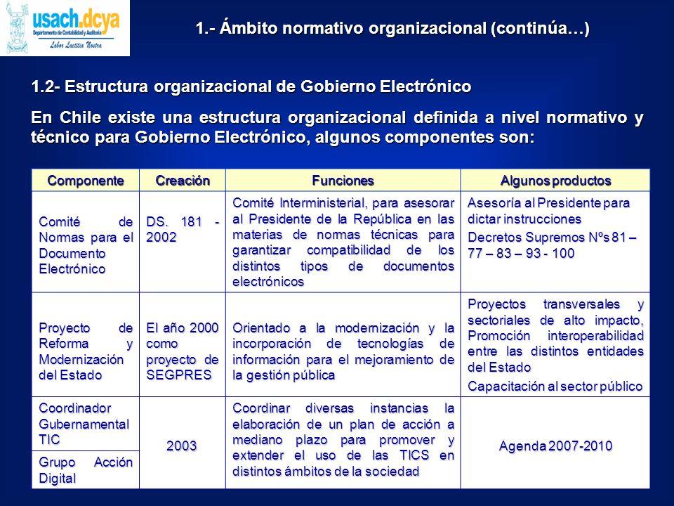 Normas NIIF en Chile : La adopción de las NIIF en Chile es ya un hecho consolidado y esto de alguna forma ha precipitado la discusión sobre la implementación de XBRL (Taxonomía IFRS – GP), entre otros, por los siguientes organismos: OrganismoNorma Qué regula Superintendencia de Valores y Seguros Oficio Circular Nº 368 de 16.10.06 Las entidades inscritas en el Registro de Valores, emisoras de valores de oferta pública, con excepción de las compañías de seguros deben prepararse para la vigencia de las NIIF el 01.01.09.