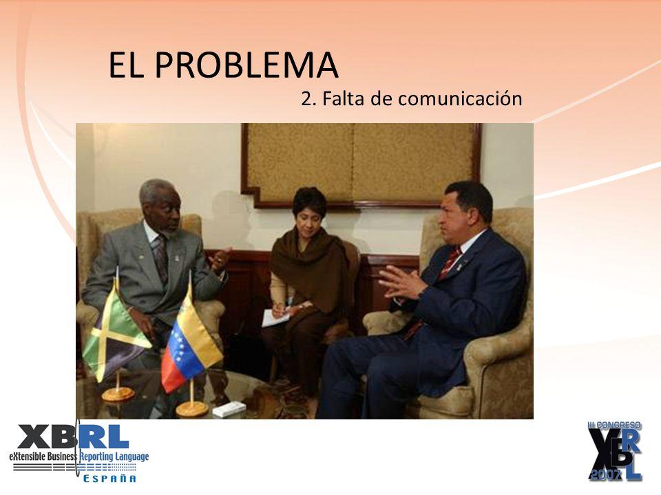 EL PROBLEMA 2. Falta de comunicación