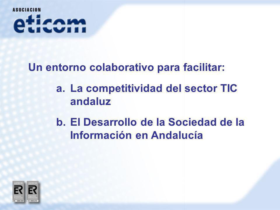 Un entorno colaborativo para facilitar: a.La competitividad del sector TIC andaluz b.El Desarrollo de la Sociedad de la Información en Andalucía