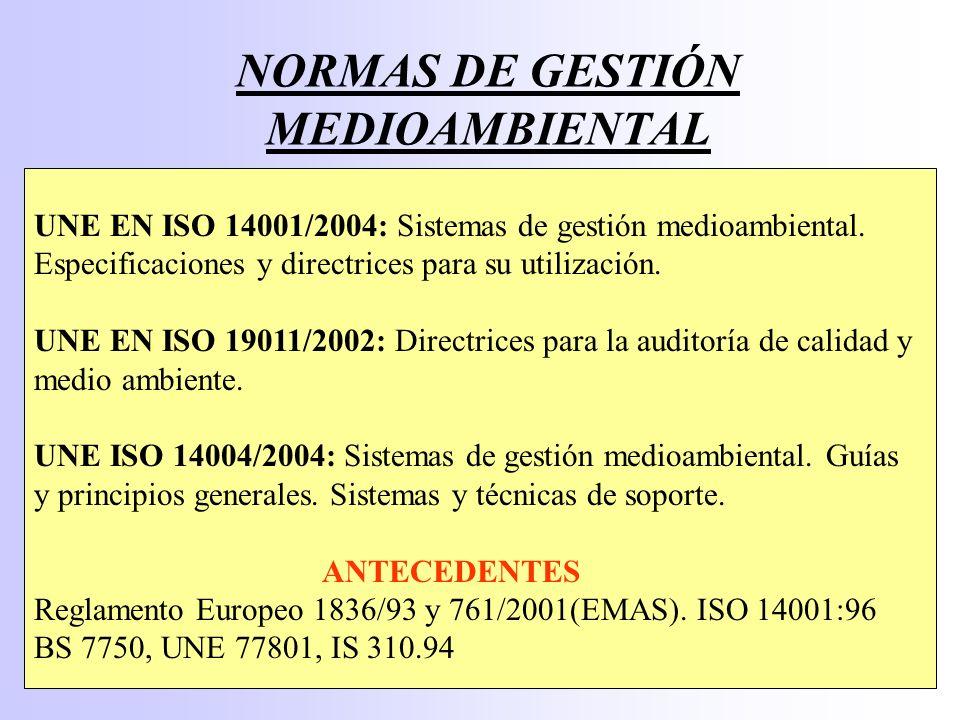 DIFERENCIAS ISO 14001:96 4.5 Comprobación y acción correctora 4.5.1 Seguimiento y medición 4.5.2 No conformidad, acción correctora y acción preventiva 4.5.3 Registros 4.5.4 Auditoría 4.6 Revisión por la Dirección ISO 14001:2004 4.5 Verificación 4.5.1 Seguimiento y medición 4.5.2 Evaluación del cumplimiento 4.5.3 No conformidad, acción correctiva y acción preventiva 4.5.4 Control de los registros 4.5.5 Auditoría 4.6 Revisión por la Dirección