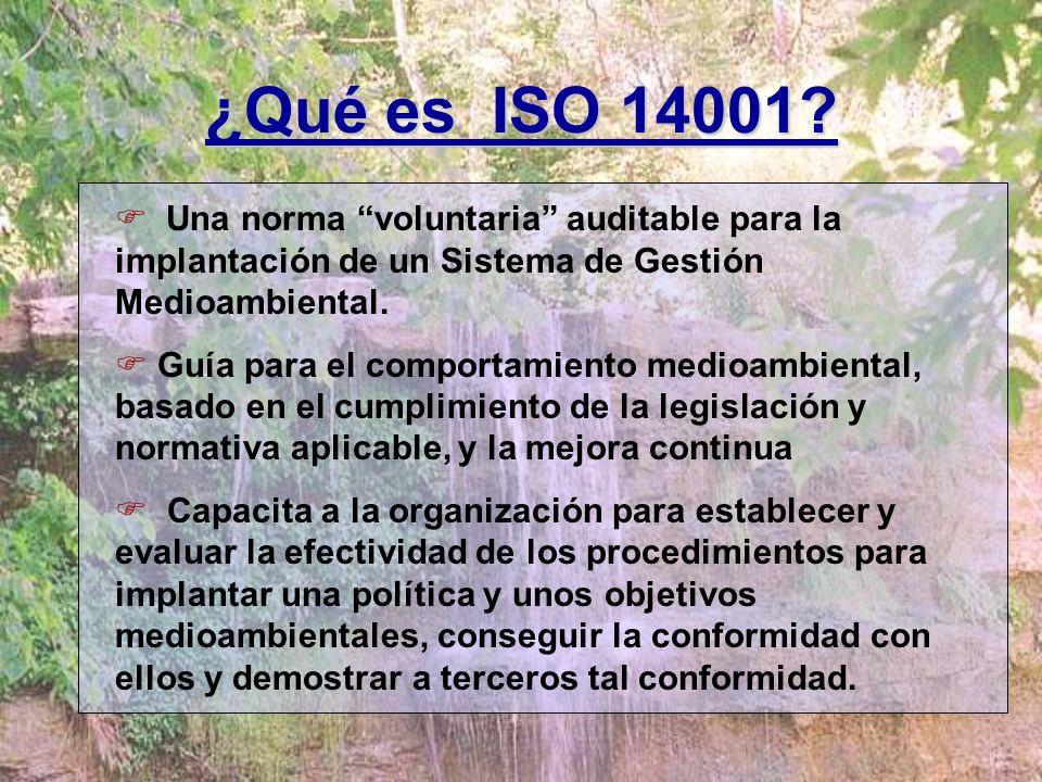 NORMAS DE GESTIÓN MEDIOAMBIENTAL UNE EN ISO 14001/2004: Sistemas de gestión medioambiental. Especificaciones y directrices para su utilización. UNE EN