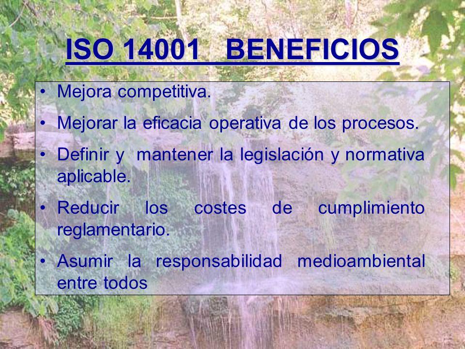 ¿Qué es ISO 14001? Una norma voluntaria auditable para la implantación de un Sistema de Gestión Medioambiental. F Guía para el comportamiento medioamb