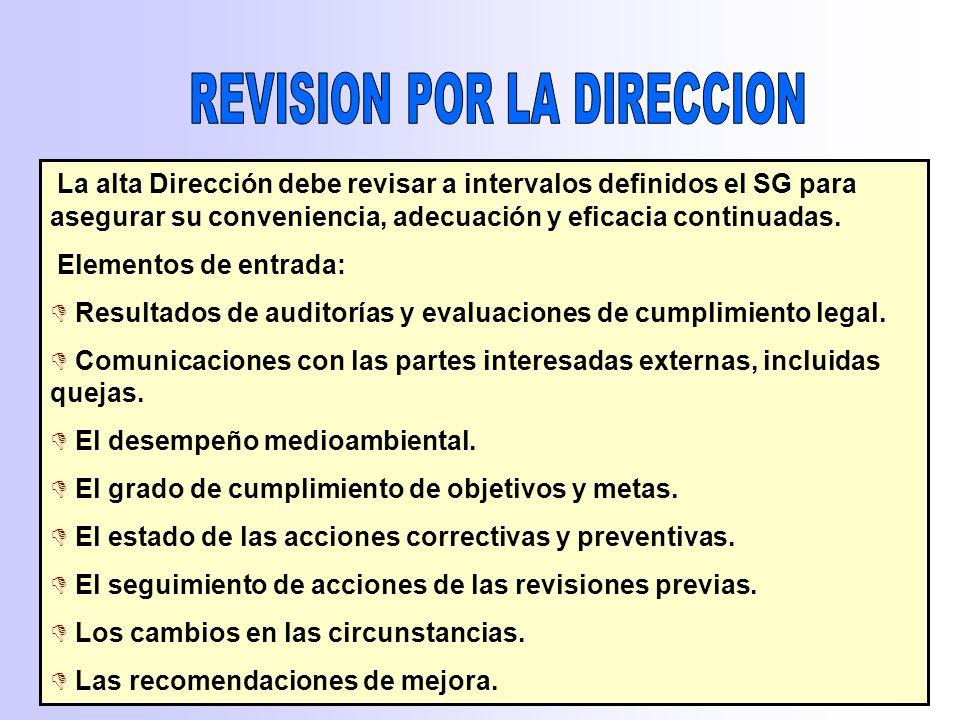 4.5.3 No conformidad, acción correctiva y preventiva Se añade: La revisión de la eficacia de las acciones preventivas y correctivas tomadas. 4.5.5 Aud