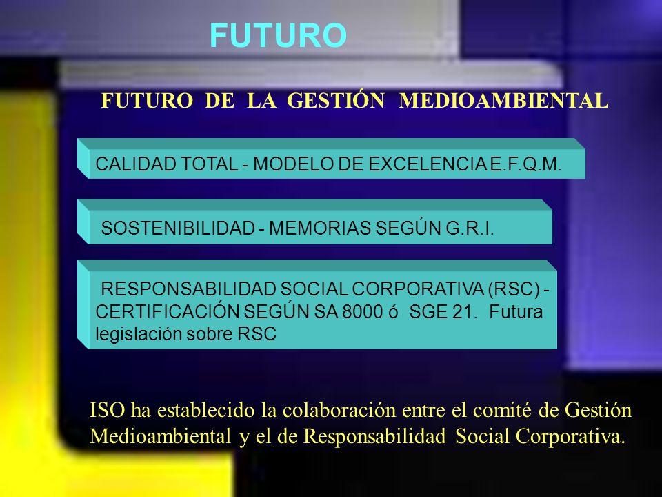 ANTECEDENTES CONTROL DE LA CONTAMINACIÓN GESTIÓN A NIVEL DE EMPLAZAMIENTO GESTIÓN DEL SISTEMA RESPONSABILIDAD SOCIAL 1996 2000 2005 Control Prevención Estrategia EVOLUCIÓN DE LA GESTIÓN MEDIOAMBIENTAL