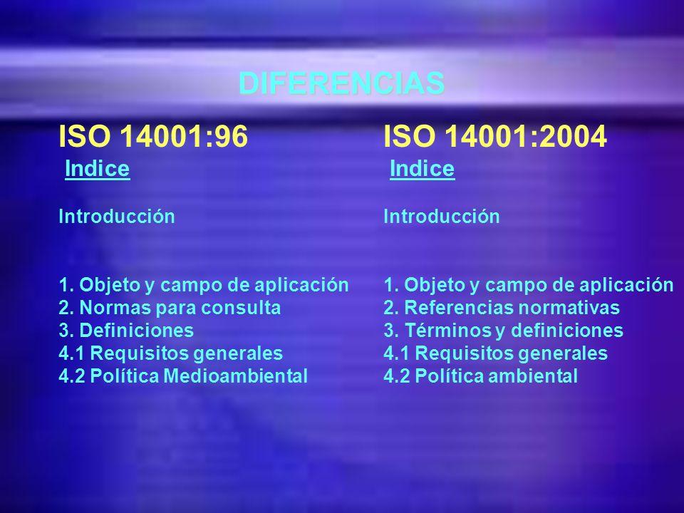 UNE - EN ISO 14001: 2004 Clarificación de requisitos: Y Recomendaciones para la mejora. Y Proceso de Comunicación externa voluntaria definido. Y Proce