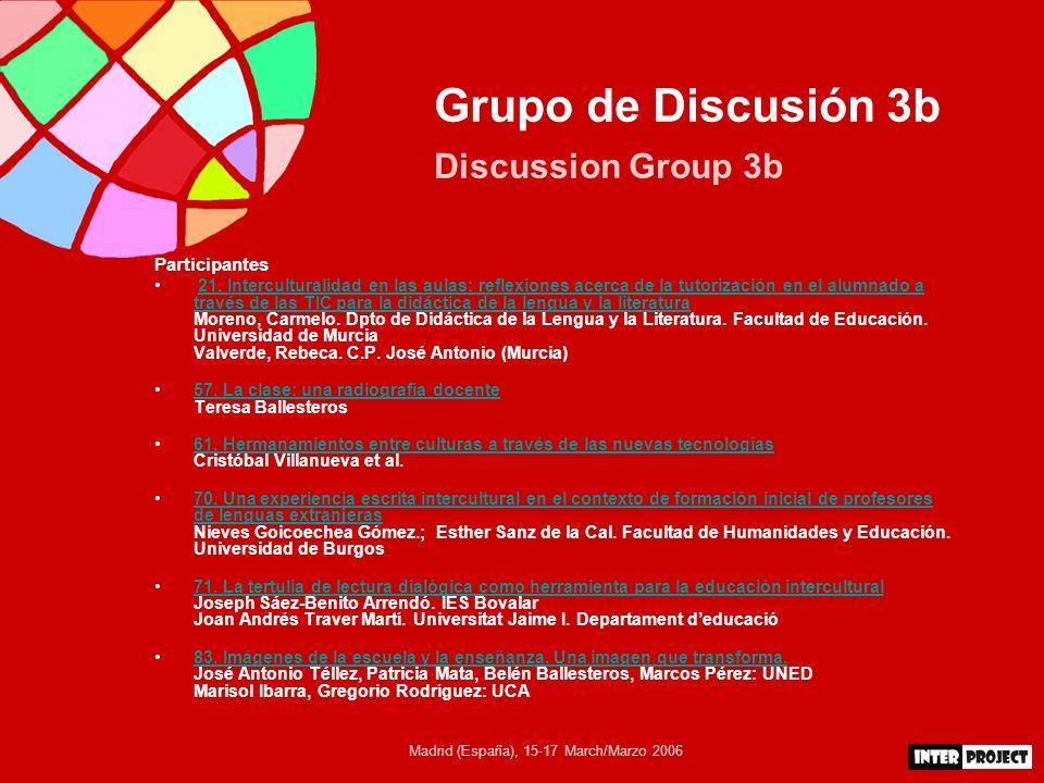 Madrid (España), 15-17 March/Marzo 2006 Formas de aprender / Formas de enseñar Theoretical Assumptions La multiculturalidad no es un problema; es un reto, una oportunidad.
