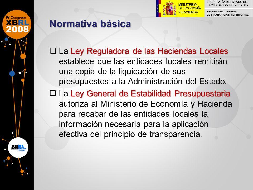 Normativa básica Ley Reguladora de las Haciendas Locales La Ley Reguladora de las Haciendas Locales establece que las entidades locales remitirán una