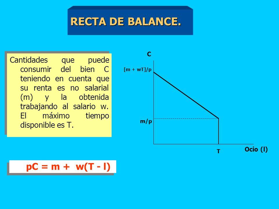 C [m+wT]/p m/p 0 T l l0l0 C0C0 [m+w(1-t)T]/p l1l1 Tg = w/p Tg = w/p(1-t) Tg > tg t > 0 L0L0 L1L1 E0E0 E1E1 ES < ER ES < ER IMPUESTO SALARIAL (II).