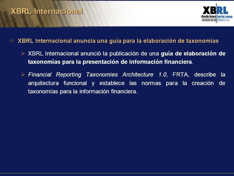 XBRL Internacional anuncia una guía para la elaboración de taxonomías XBRL Internacional anunció la publicación de una guía de elaboración de taxonomías para la presentación de información financiera.
