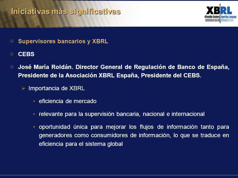 Supervisores bancarios y XBRL CEBS José María Roldán.