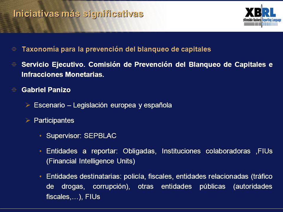 Taxonomía para la prevención del blanqueo de capitales Servicio Ejecutivo.