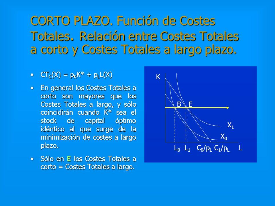CORTO PLAZO. Senda de Expansión de la producción. Demanda del factor variable. En el corto plazo el capital está dado (K = K*) y la senda de expansión