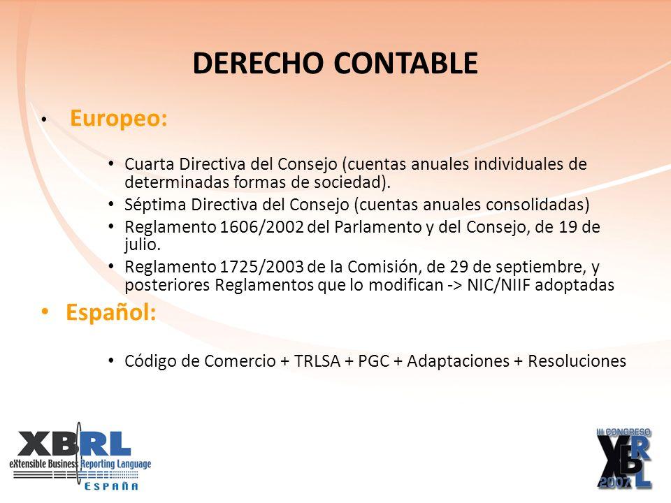 DERECHO CONTABLE Europeo: Cuarta Directiva del Consejo (cuentas anuales individuales de determinadas formas de sociedad).