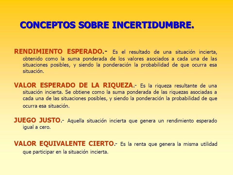 LECCION 10. LA ELECCION BAJO INCERTIDUMBRE. José L. Calvo