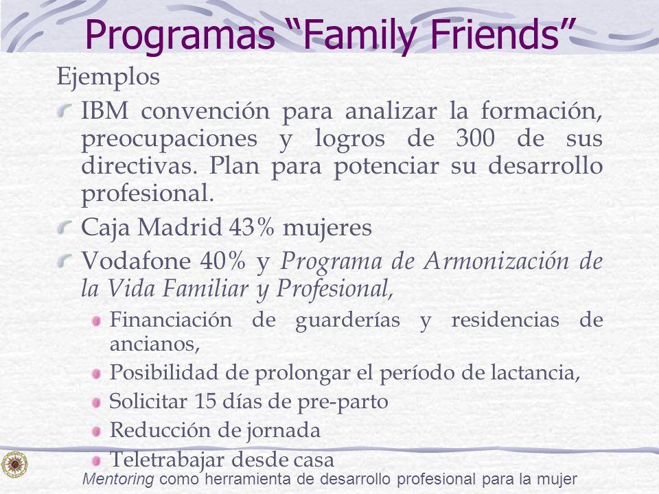 Mentoring como herramienta de desarrollo profesional para la mujer Programas Family Friends Ejemplos IBM convención para analizar la formación, preocu