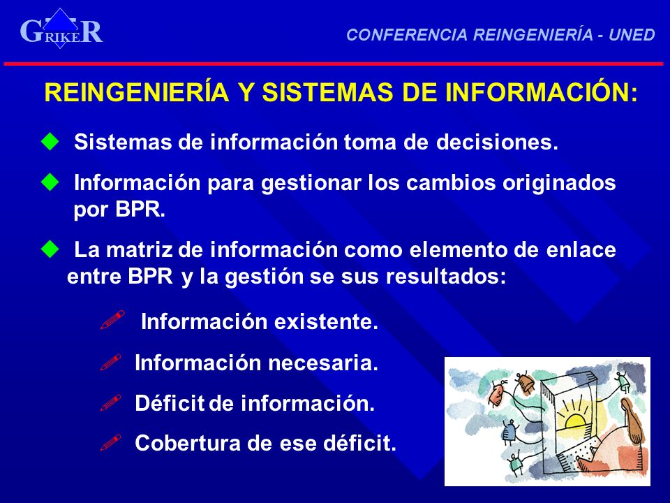 RIKE R G CONFERENCIA REINGENIERÍA - UNED RIKE R G REINGENIERÍA Y SISTEMAS DE INFORMACIÓN: Sistemas de información toma de decisiones. Información para