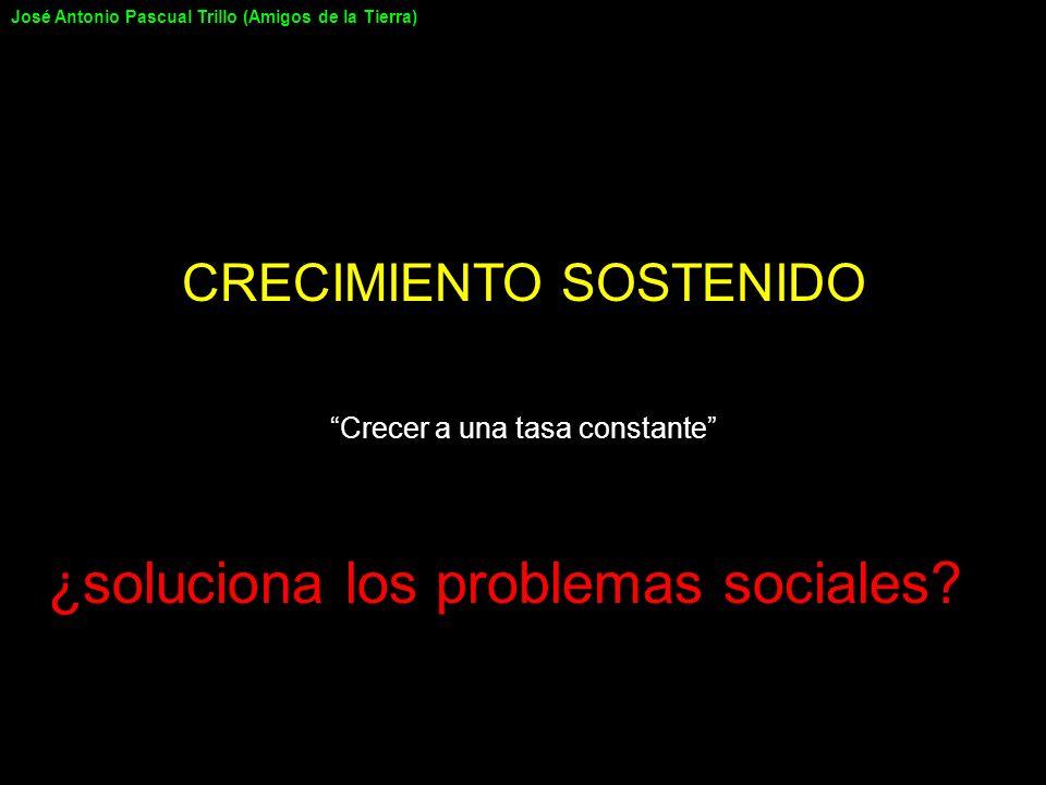 CRECIMIENTO SOSTENIDO Crecer a una tasa constante ¿soluciona los problemas sociales? José Antonio Pascual Trillo (Amigos de la Tierra)
