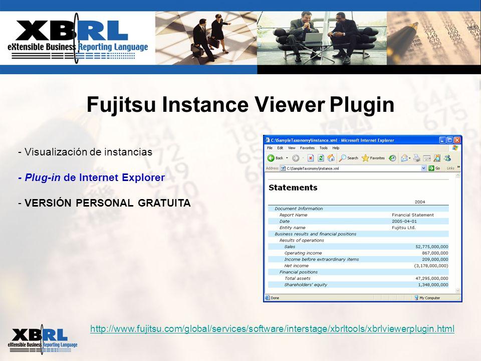 Fujitsu Instance Viewer Plugin - Visualización de instancias - Plug-in de Internet Explorer - VERSIÓN PERSONAL GRATUITA http://www.fujitsu.com/global/
