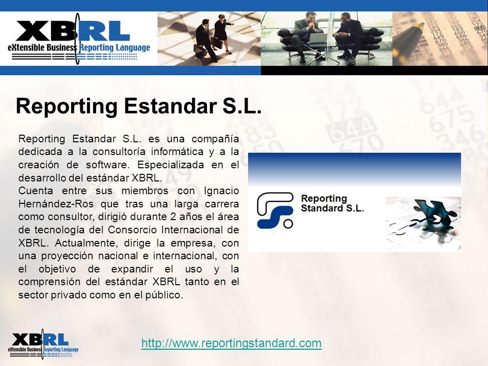Reporting Estandar S.L. Reporting Estandar S.L. es una compañía dedicada a la consultoría informática y a la creación de software. Especializada en el